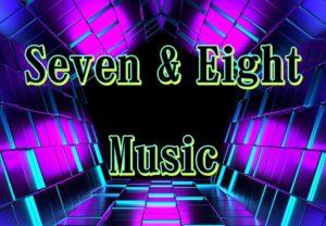 seven & eight music のサイト。トップページにある、スマートフォン用ヘッダースライダー画像。