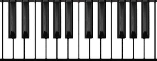 ピアノの鍵盤の図。鍵盤配列のおさらい。