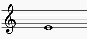 五線譜上にト音記号が表記されている。これは何の音か?