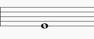五線譜上には音の高さの基準である音部記号がない。これは何の音か?